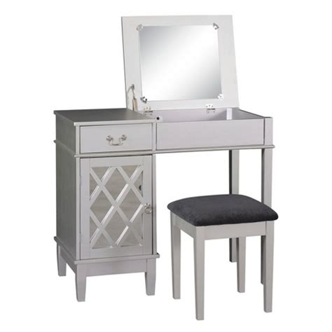 silver lattice vanity set linon home decor target