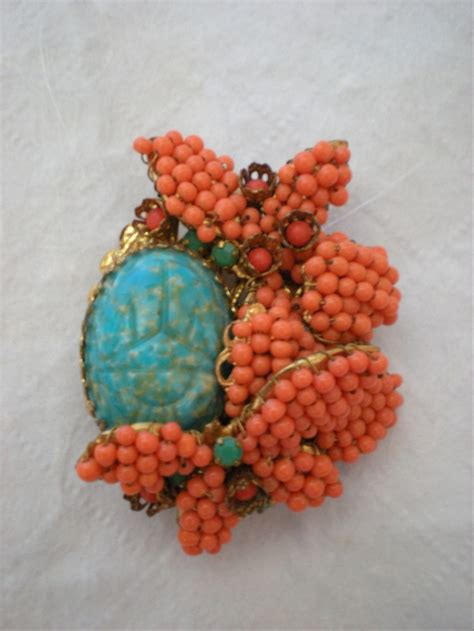 Silver Nato Torquise Medium stanley hagler ny beautiful turqouise and coral brooch