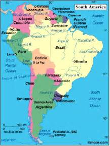 map of south america cities central south america south america