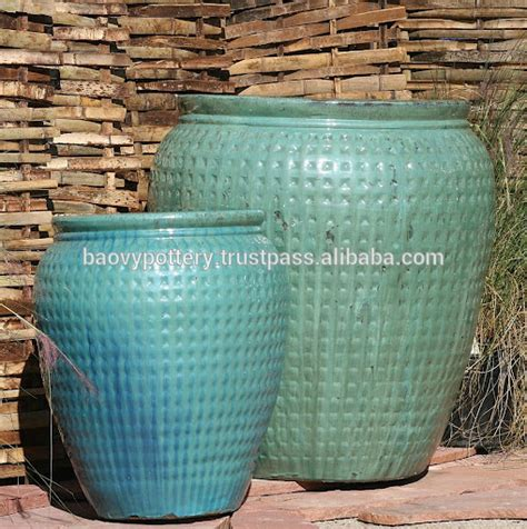 Outdoor Pottery Pots New Model Large Glazed Outdoor Ceramic Pottery For