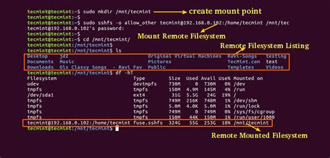 How To Mount Remote Linux Filesystem Or Directory Using | how to mount remote linux filesystem or directory using
