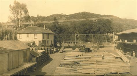 San Anselmo Post Office by Then And Now The E K Wood Lumber Yard San Anselmo