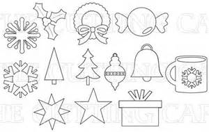the cutting cafe christmas basic shapes templates