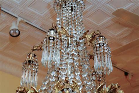 Chandelier Salon Large Empire Style Grand Salon Chandelier For Sale At 1stdibs