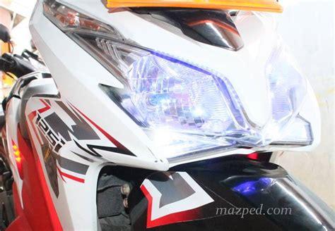 Lu Led Supra X 125 diy pasang pengaman motor di vario 125 12 maret 2013