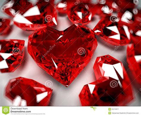 heart rubies stock illustration illustration  jewel