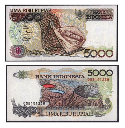 1992 Lima Ribu Rupiah harga tukar uang jadul ini sekarang melebihi nominalnya