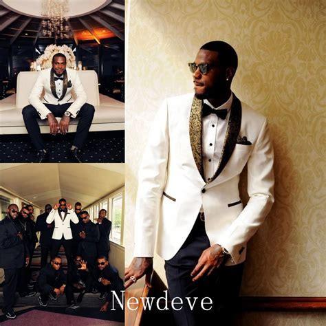White Black Best Man Groomsman Men's Wedding/Prom 3 Piece