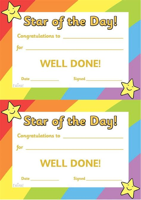 printable classroom poster twinkl resources gt gt star of the day a4 poster gt gt classroom