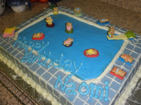 Pool Cake Decorations by Cakes By D Pool Birthday Cake