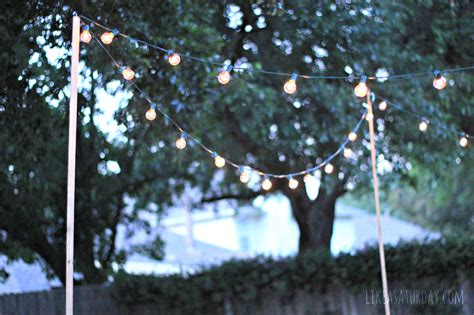 backyard light strings how to string outdoor lights without trees creativity