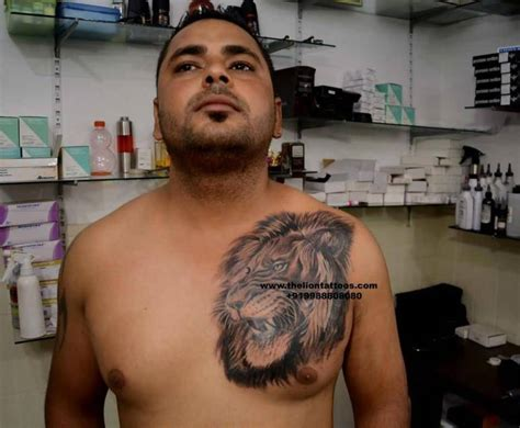 lion tattoo on chest and shoulder lion tattoo ideas and lion tattoo designs page 21