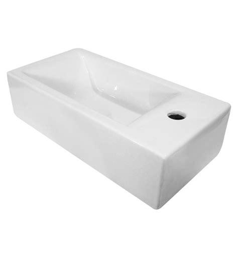 bathroom sink brands alfi brand ab108 small white modern rectangular wall