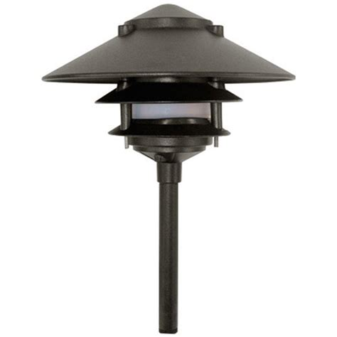 Filament Design Corbin 1 Light Black 3 Tier Outdoor Pagoda Pagoda Landscape Lights