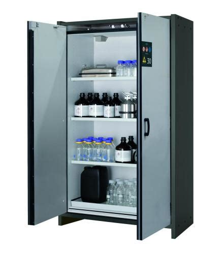 asecos safety storage cabinets q classic 30 with wing