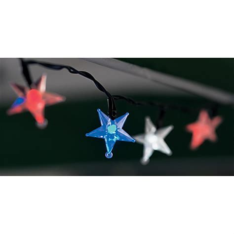 red white blue lights red white and blue solar outdoor led star lights 134388