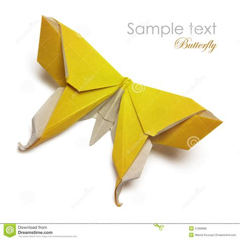How To Make Paper Yellow - yellow origami butterfly royalty free stock photos image