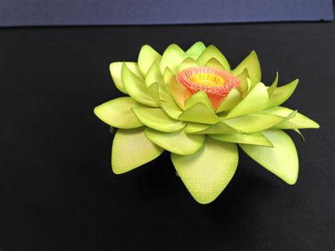Lotus With Paper - green paper lotus flower by mypaperfancies on etsy 65 00
