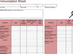 vaccination record template pin blank vaccination record template on