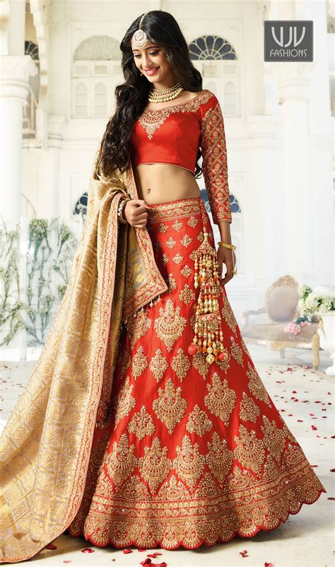 Designer Bridal Wear by Buy New Bridal Lehenga Indian Traditional Lehenga