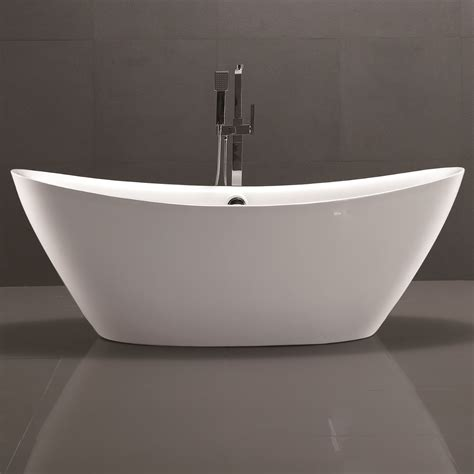 how to secure a bathtub vanityart 71 quot x 34 quot freestanding soaking bathtub wayfair ca