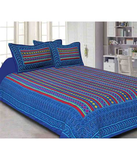 Z Bed Sheets by Jaipuri Haat Cotton Bedsheet With Two Pillow Covers