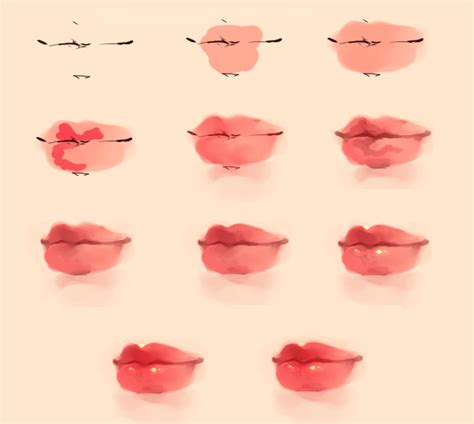 watercolor lips tutorial kiss kiss by agent lapin d6ri97n png 905 215 811 amazing