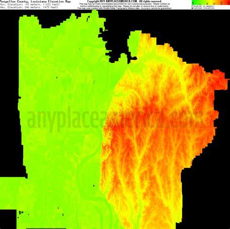 south louisiana elevation map free avoyelles parish louisiana topo maps elevations