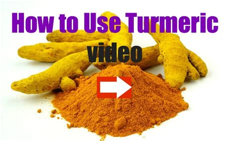 how to use how to use turmeric