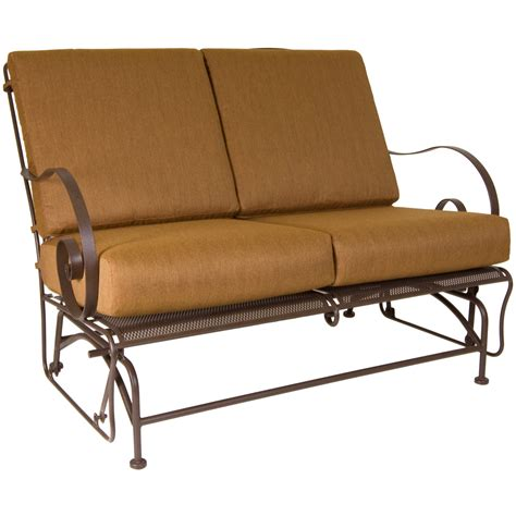 o w avalon loveseat glider outdoor sofas