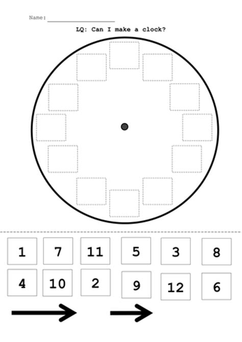 make your own clock template time build a clock activty by mandem2014 teaching