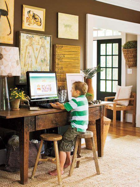 computer in living room desk space desks and home design on pinterest
