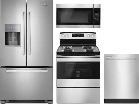 amana kitchen appliances amana amreradwmw8 4 piece kitchen appliances package with