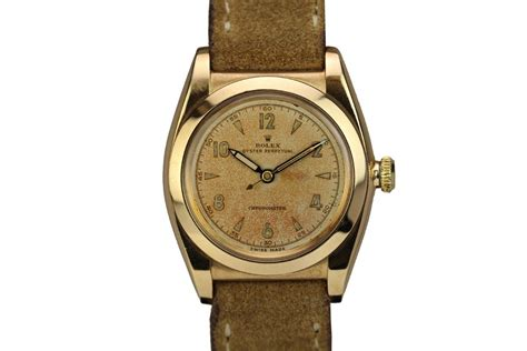 1946 rolex 14kt yellow gold bubbleback for sale