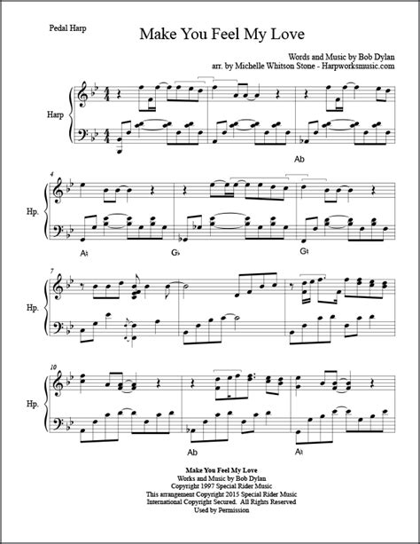 download mp3 make you feel my love glee piano sheet music adele make you feel my love sheet