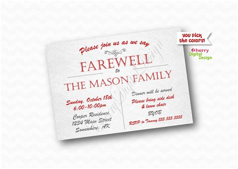 free printable invitation templates going away party basic training going away party invitations all