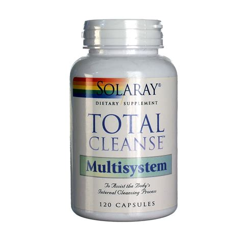 Total Detox Capsules by Solaray Total Cleanse Multisystem 120 Capsules