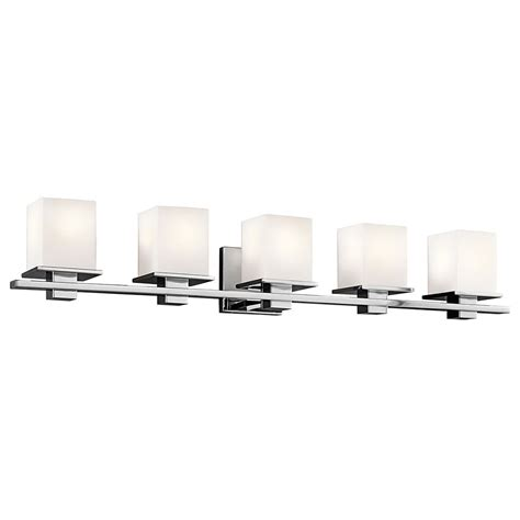 kichler vanity lights kichler 45193ch tully chrome 5 light vanity lighting kic