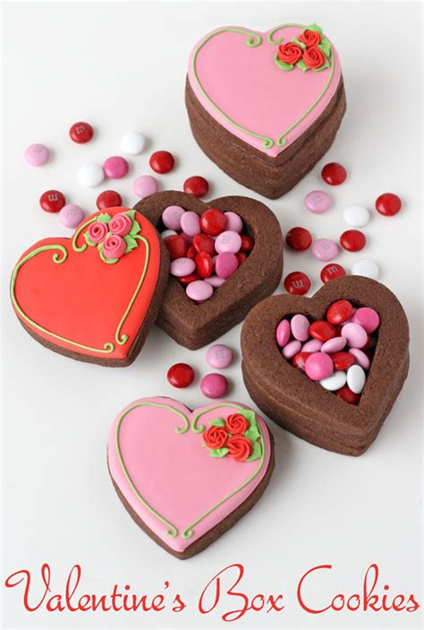 valentines biscuits valentine s cookie boxes glorious treats