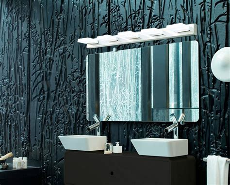 acrylic bathroom mirror quot slab quot led acrylic bathroom mirror light 38 inch