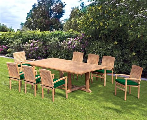 8 seater patio set with hilgrove rectangular table 2 6m