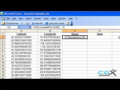 Free Geocode Lookup Geocoder In Excel