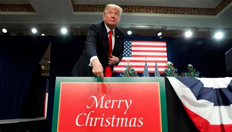 donald trump takes credit  people  merry christmas newshub