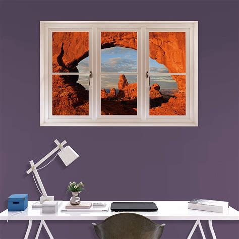 home decor nation arches national park instant window wall decal shop