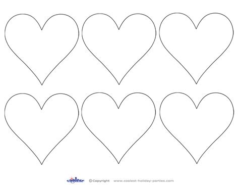 printable shapes cut out printable valentine day hearts valentine printables