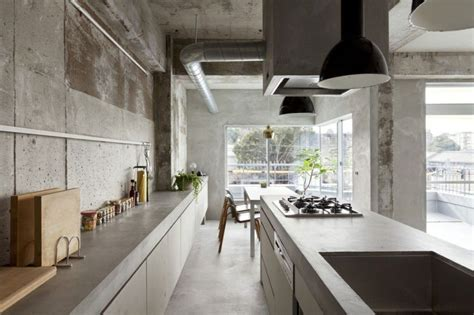concrete kitchen japanese style home decorating trends
