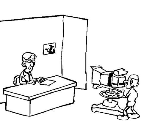 imagenes de niños viendo television para colorear dibujo de presentador de televisi 243 n para colorear