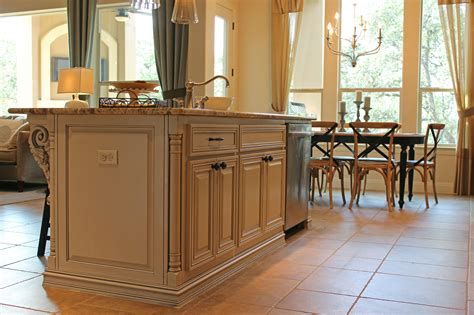 kitchen islands with posts island 12 burrows cabinets central texas builder