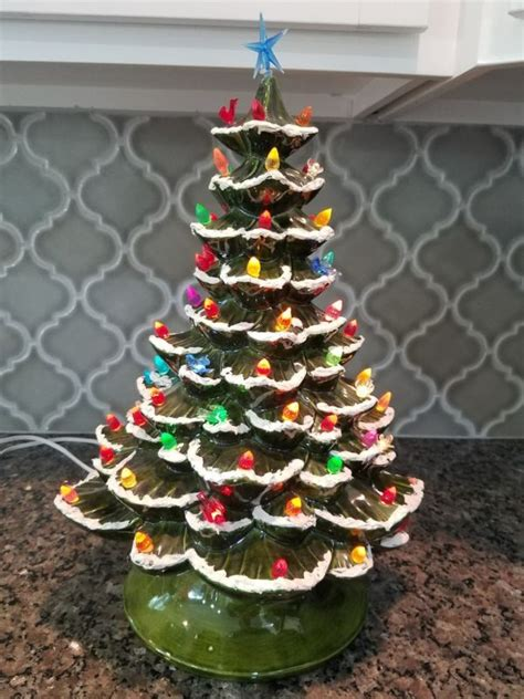 arnel ceramic christmas tree arnels shop collectibles daily