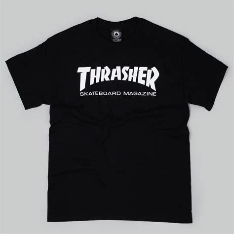 Tshirt Thrasher White thrasher magazine logo t shirt black white at skate pharm